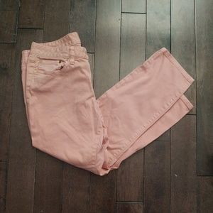 Tory Burch Coral Alexa Cropped Skinny Jeans
